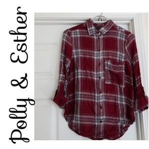 *Polly & Ester* Junior XS, Brand New, Plaid Shirt